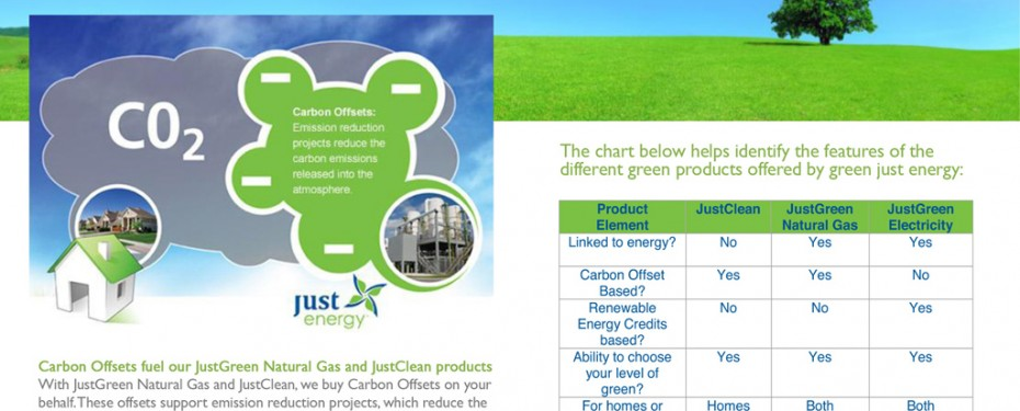 Just Energy green energy products