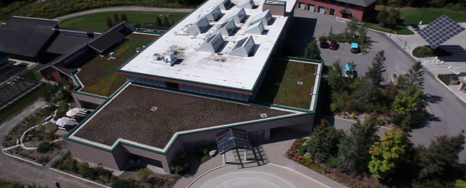 White roof aerial