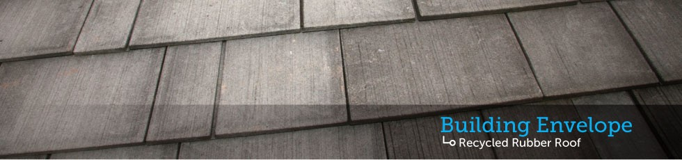 Recycled rubber roof