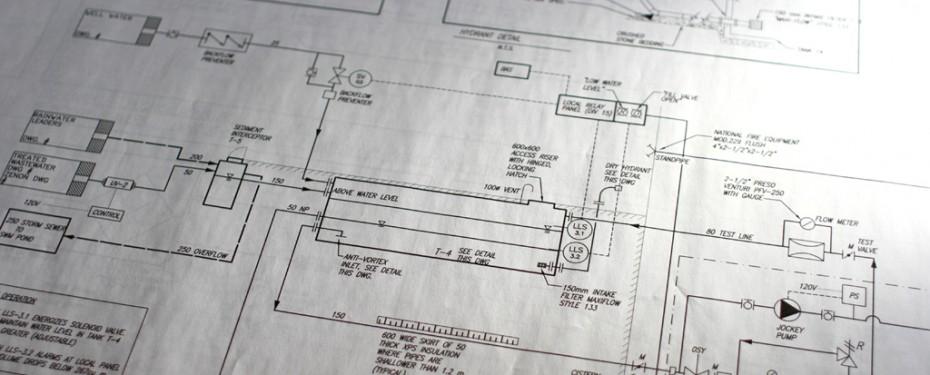 Blueprints of building