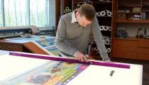 Print shop light table