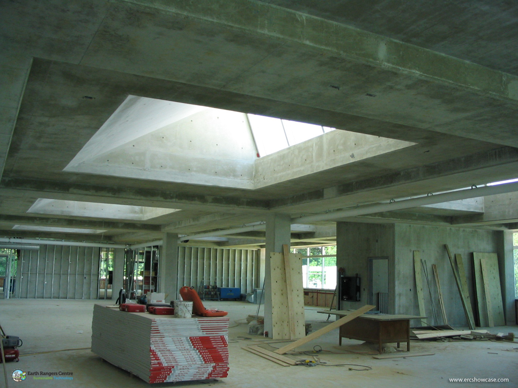Earth rangers centre for sustainable technology showcase the benefits of thermal mass in your - How put cement foundations ceilings ...