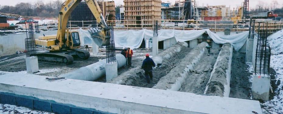 Earth Tubes construction
