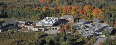 Aerial building shot
