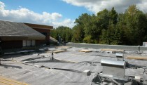 Stage 1 of roof construction