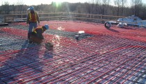Thermal coils being installed