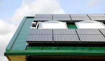 Closeup of aviary solar array