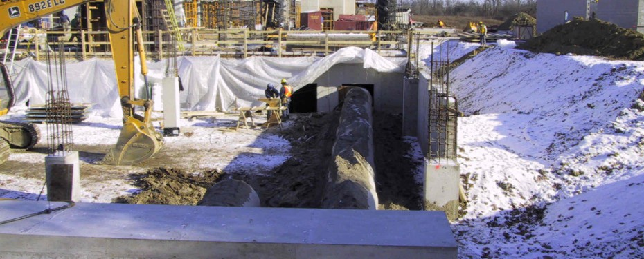 Earth Tube construction