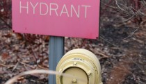 Dry hydrant in parking lot