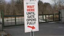 Parking lot gate closed
