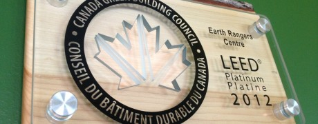 2012 LEED platinum plaque