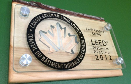 2012 LEED platinum plaque