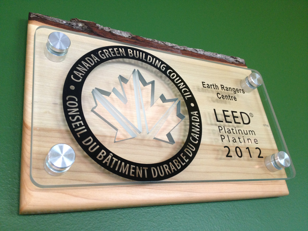 Earth rangers centre for sustainable technology showcase for Platinum leed certification