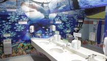 Green washrooms after re-design