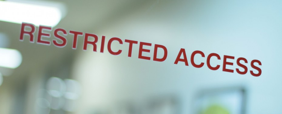 Restricted access door