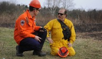 Onsite of the prescribed burn