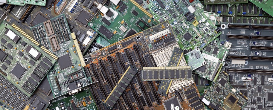 Computer components to be recycled