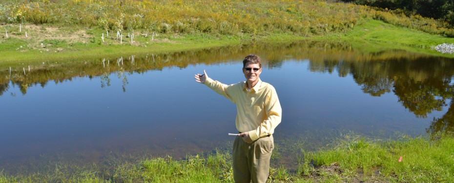 Dr. Scott and the new wetland
