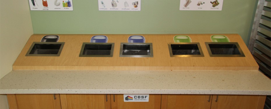 Recycling station provided by CBSF